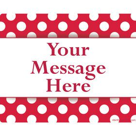 Red Dots Personalized Rectangular Stickers (Sheet of 15)