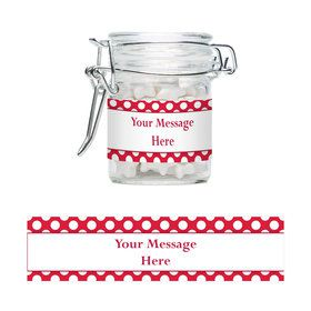 Red Dots Personalized Swing Top Apothecary Jars (12 ct)