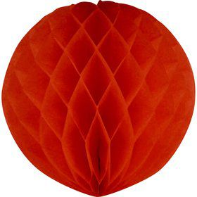 Red Honeycomb Tissue Ball (Each)