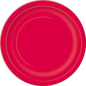 Red Luncheon Plates (16 Count)