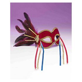 Red Mardi Gras Mask