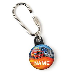 "Red Monster Truck Personalized 1"" Carabiner (Each)"