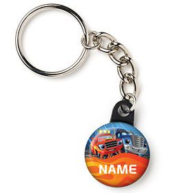 "Red Monster Truck Personalized 1"" Mini Key Chain (Each)"
