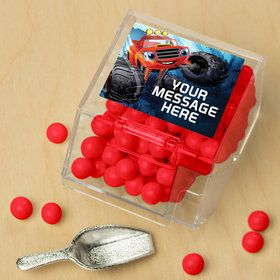 Red Monster Truck Personalized Candy Bin with Candy Scoop (10 Count)