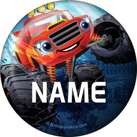 Red Monster Truck Personalized Magnet (Each)