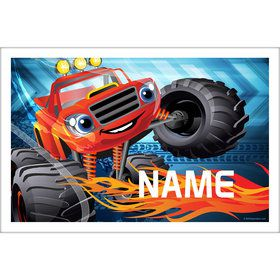 Red Monster Truck Personalized Placemat (Each)
