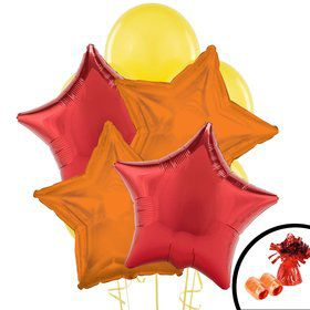 Red, Orange, Yellow Balloon Bouquet