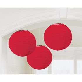 Red Paper Lantern Decorations (3 Count)