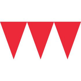 Red Paper Pennant Banner