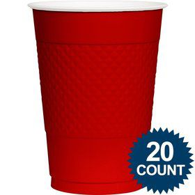 Red Plastic Cups, 16 oz. (20 Ct.)