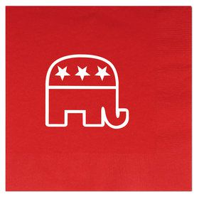 Red Republican Luncheon Napkins(16 Pack)