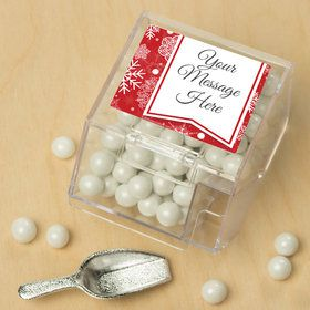 Red Snowflake Personalized Candy Bin with Candy Scoop (10 Count)