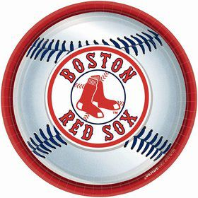 "Red Sox Plates, 9"" (18 Pack)"