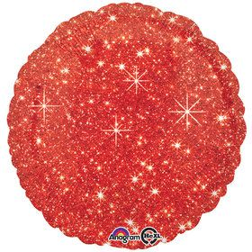 "Red Sparkle 17"" Balloon"