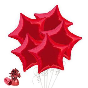 Red Star Balloon Bouquet Kit