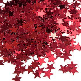 Red Stars Foil Confetti .5Oz (Each)