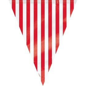 Red Stripe 12' Flag Banner Decoration (Each)