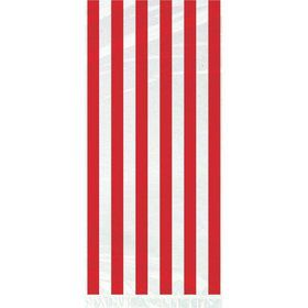 Red Stripe Cello Favor Bags (20 Pack)