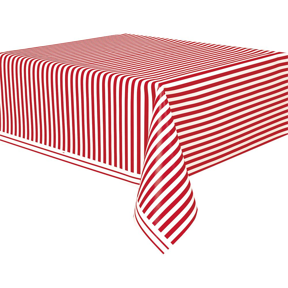 Red Stripe Table Cover (Each) BB50300