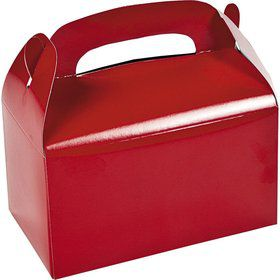 Red Treat Favor Boxes (6 Pack)