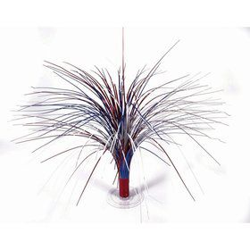 "Red, White & Blue Holographic 18"" Fountain Centerpiece"