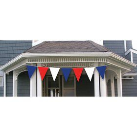 Red, White & Blue Patriot 30' Plastic Flag Banner Set