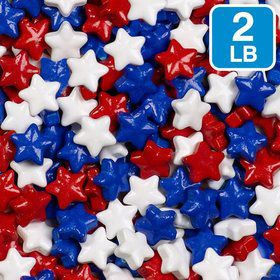 Red White Blue Stars Mix Candy