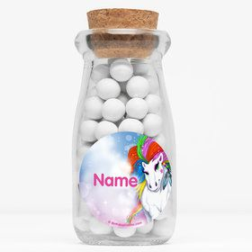 "Regal Pony Personalized 4"" Glass Milk Jars (Set of 12)"