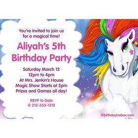 Regal Pony Personalized Invitation (Each)