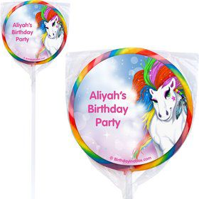 Regal Pony Personalized Lollipops (12 Pack)