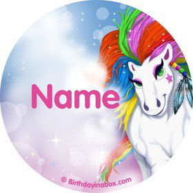 Regal Pony Personalized Mini Stickers (Sheet of 20)