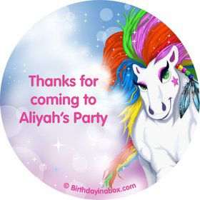 Regal Pony Personalized Stickers (Sheet of 12)