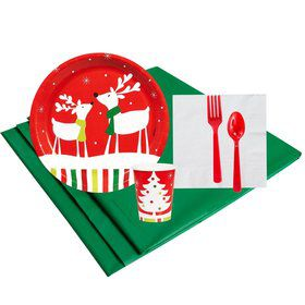 Reindeer Christmas Party 16 Guest Party Pack