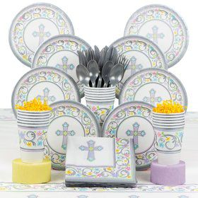 Religious Birthday Party Deluxe Tableware Kit Serves 18
