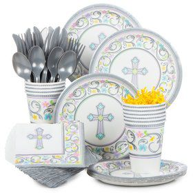 Religious Birthday Party Standard Tableware Kit Serves 18