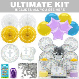 Religious Birthday Party Ultimate Tableware Kit Serves 18