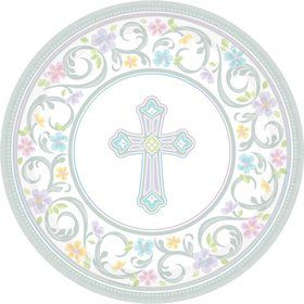 "Religious Party 7"" Cake Plates (18 Pack)"