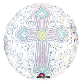 "Religious Party Cross 18"" Balloon (Each)"