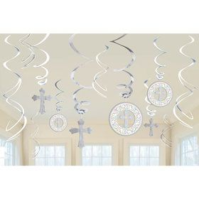 Religious PartyFoil Swirls (12 Count)