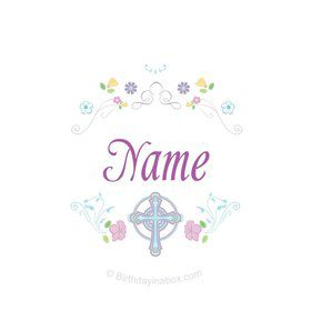 Religious Party Personalized Mini Stickers (Sheet of 20)