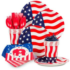 Republican Party Standard Tableware Kit (Serves 8)