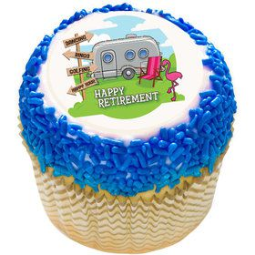 "Retirement 2"" Edible Cupcake Topper (12 Images)"