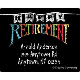 Retirement Personalized Address Labels (Sheet of 15)
