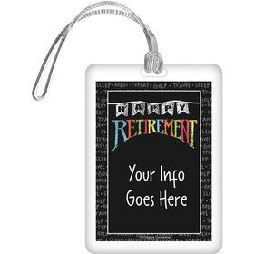 Retirement Personalized Bag Tag (Each)