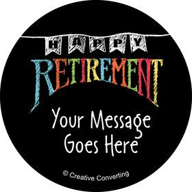 Retirement Personalized Mini Stickers (Sheet of 20)