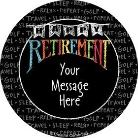 Retirement Personalized Stickers (Sheet of 12)
