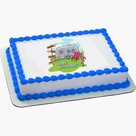 Retirement Quarter Sheet Edible Cake Topper (Each)