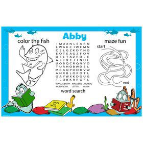 Riddle Little Personalized Activity Mat (8 Pack)