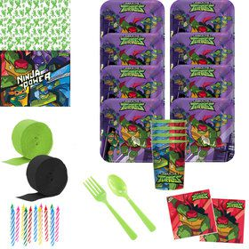 Rise of the TMNT Deluxe Tableware Kit with Favor Cup (Serves 8)
