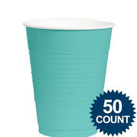 Robins Egg Blue 12Oz. Plastic Cup (50 Pack)